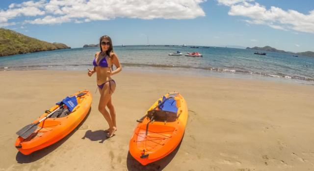 Kayaking in Playa Hermosa