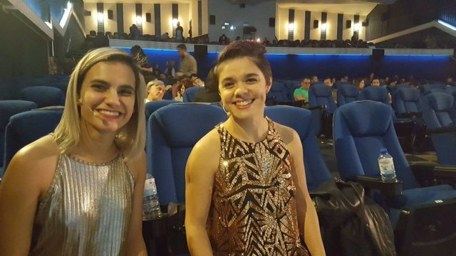 Young girls enjoying one of the films at the CRFIC