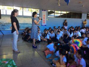 Santa Ana elementary school students