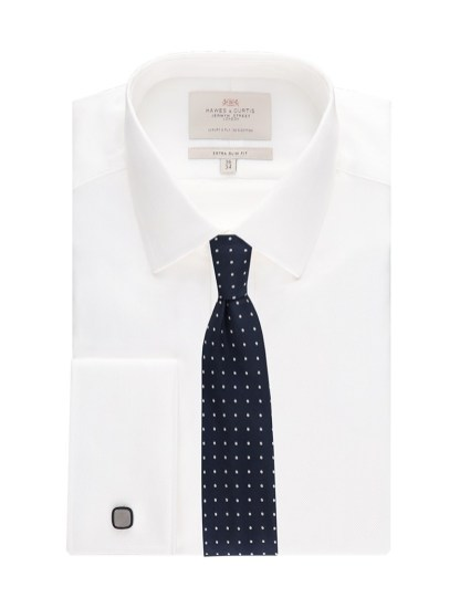 Mens hawes and curtis luxury white shirt