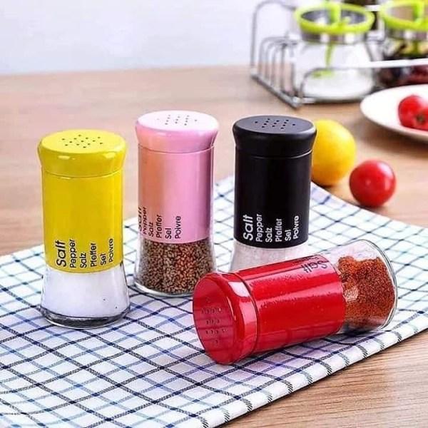 Glass Salt, Coffee, Oil, Vinegar and Pepper Shaker