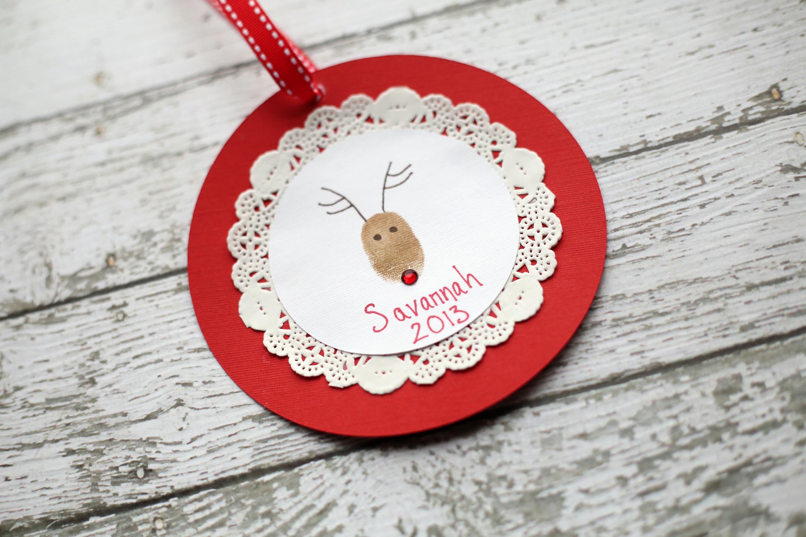Reindeer Thumb Print Ornament Tutorial