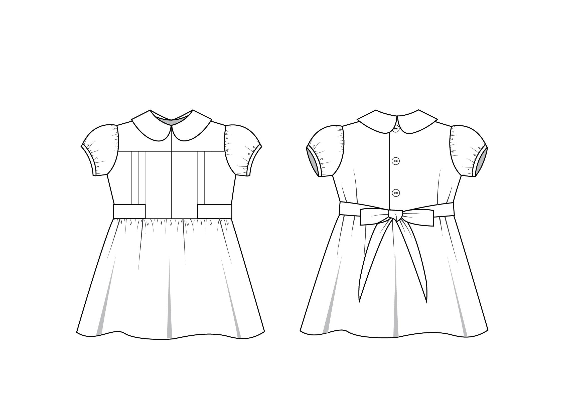 Adelaide Dress Pattern Size 6m