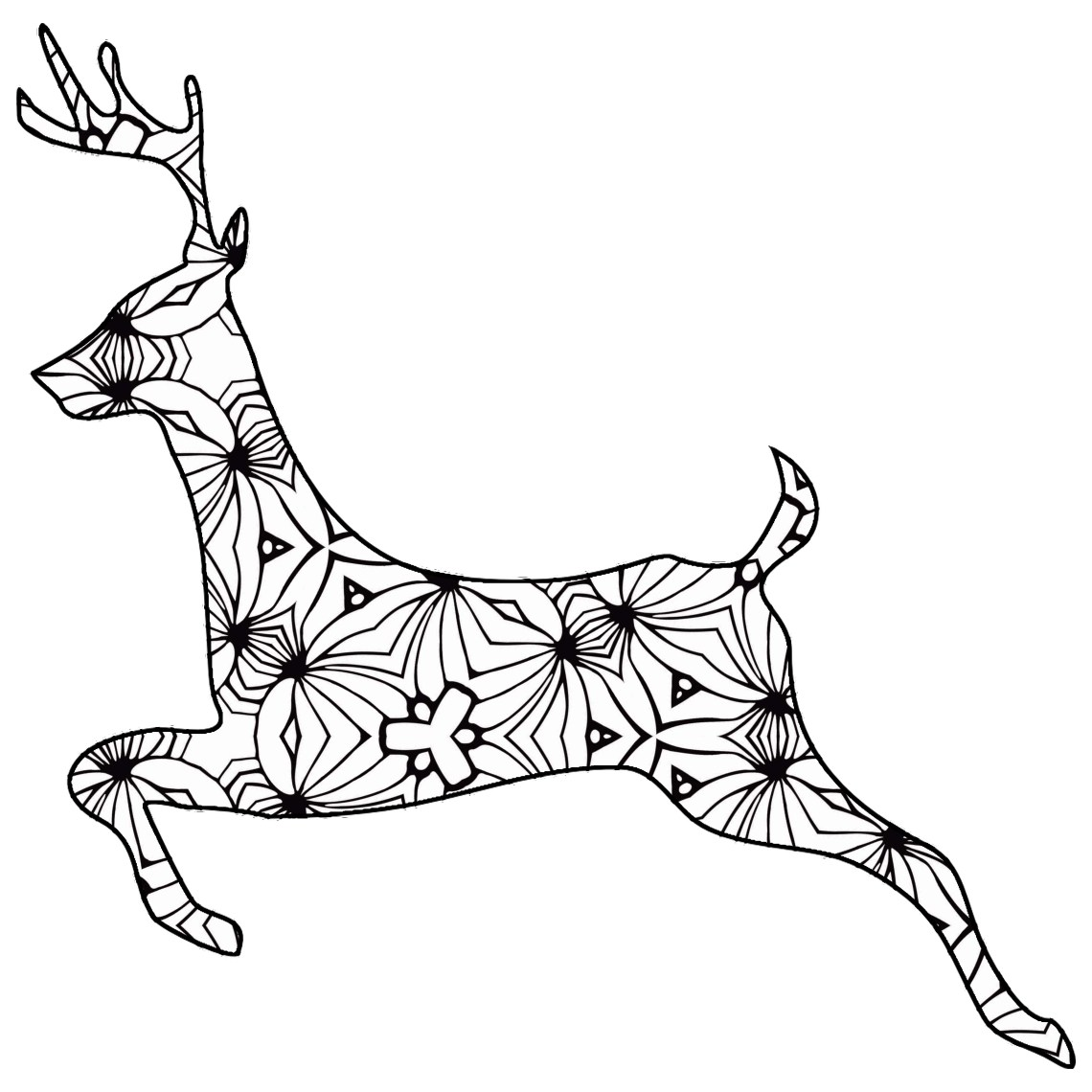 30 Free Printable Geometric Animal Coloring Pages | The ... | free printable colouring sheets animals