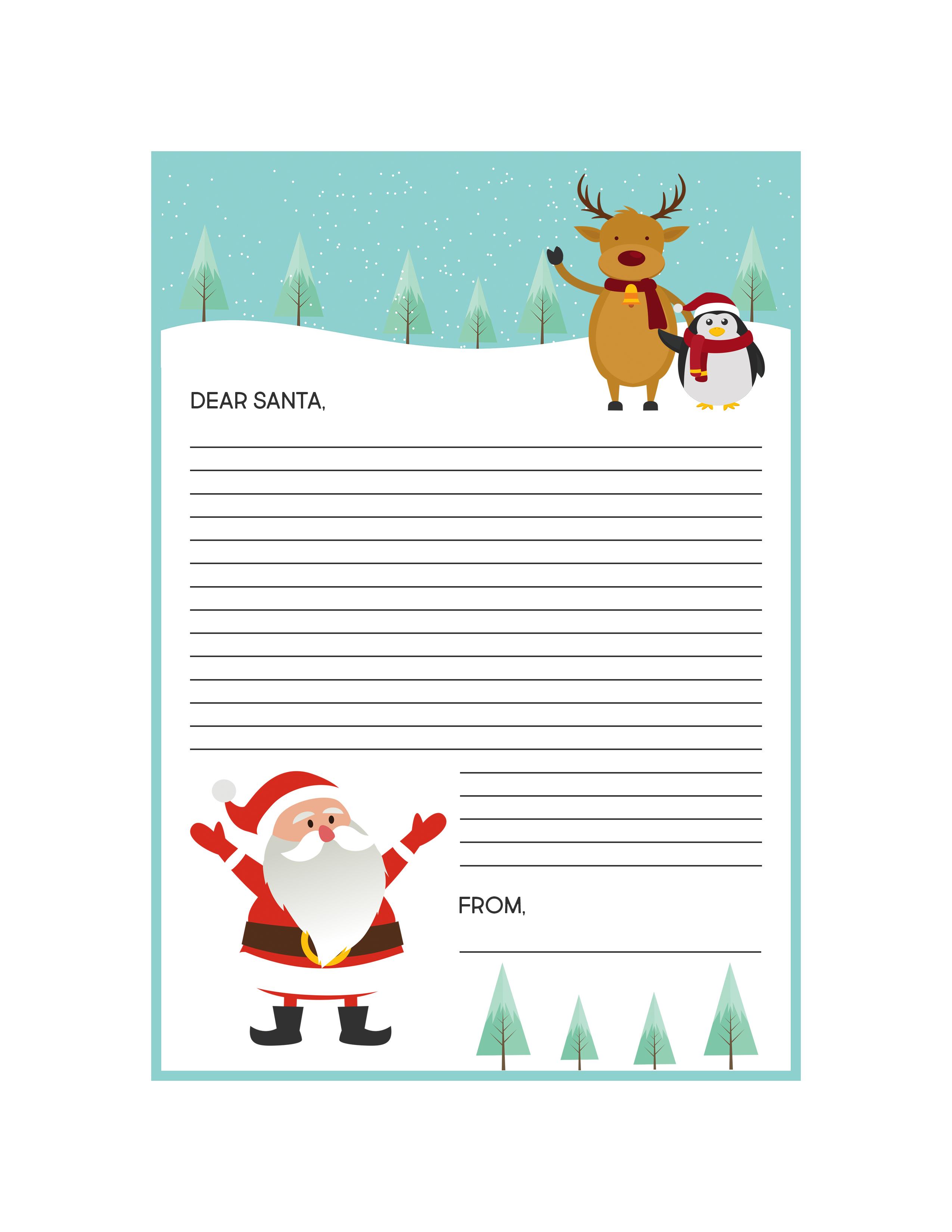 Free Printable Santa Letter Kit The Cottage Market
