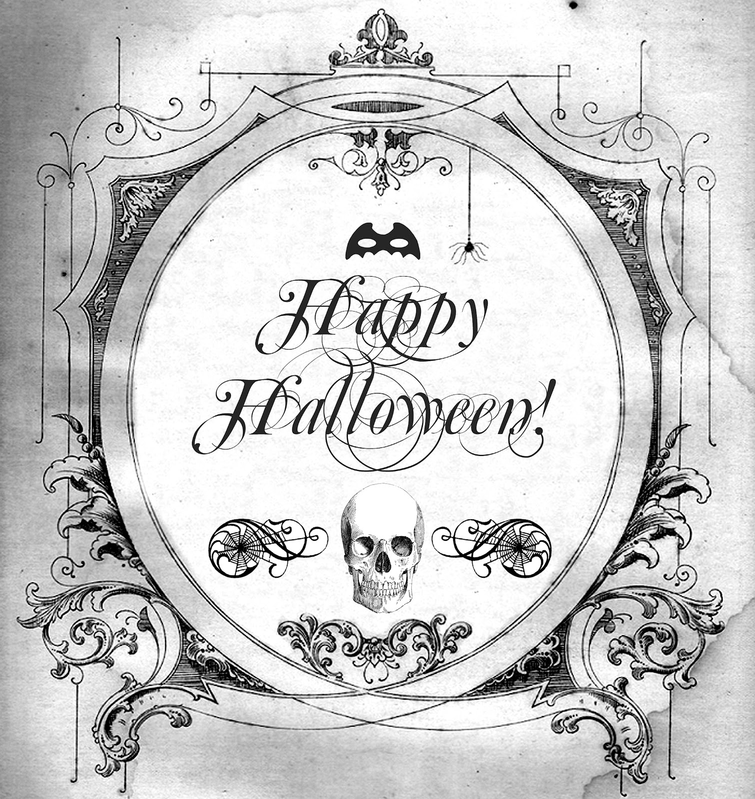 Halloween Free Printable For Transfers Prints Tags