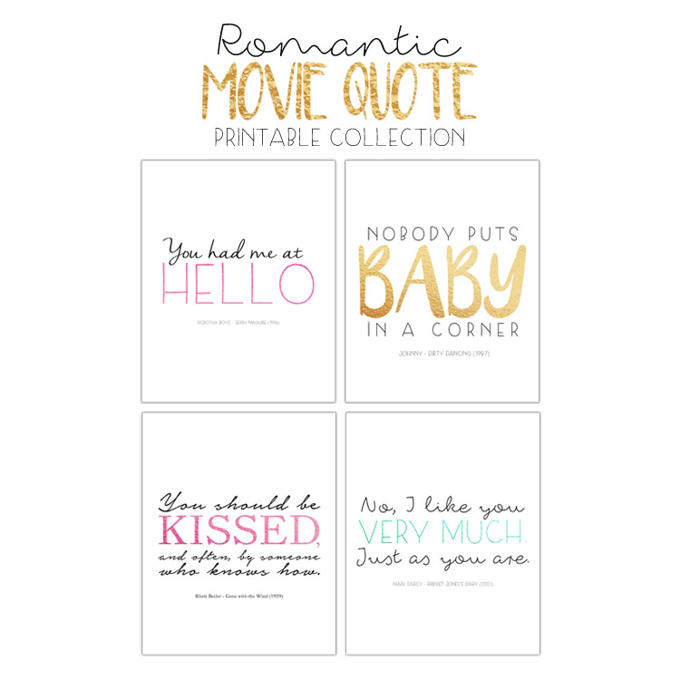 Free Printable Package Romantic Movie Quotes