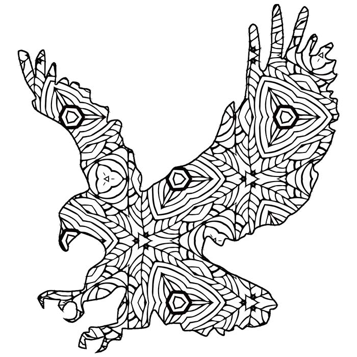free printable geometric animal coloring pages  the
