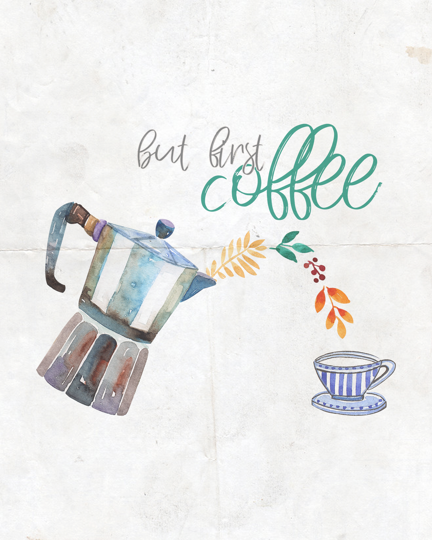 Free Printable Farmhouse Coffee And Tea Wall Art