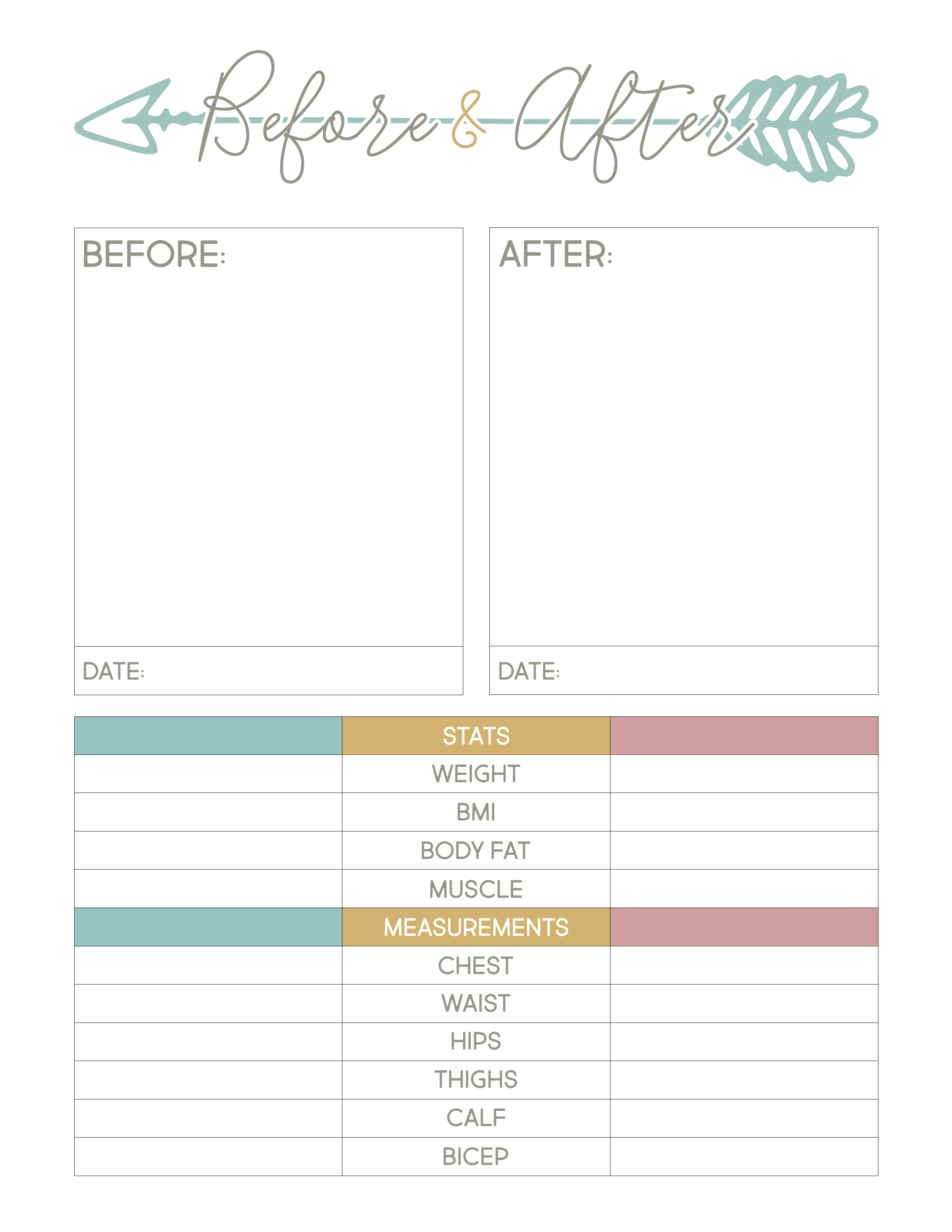 Weight Loss Journal Printable That Are Nerdy