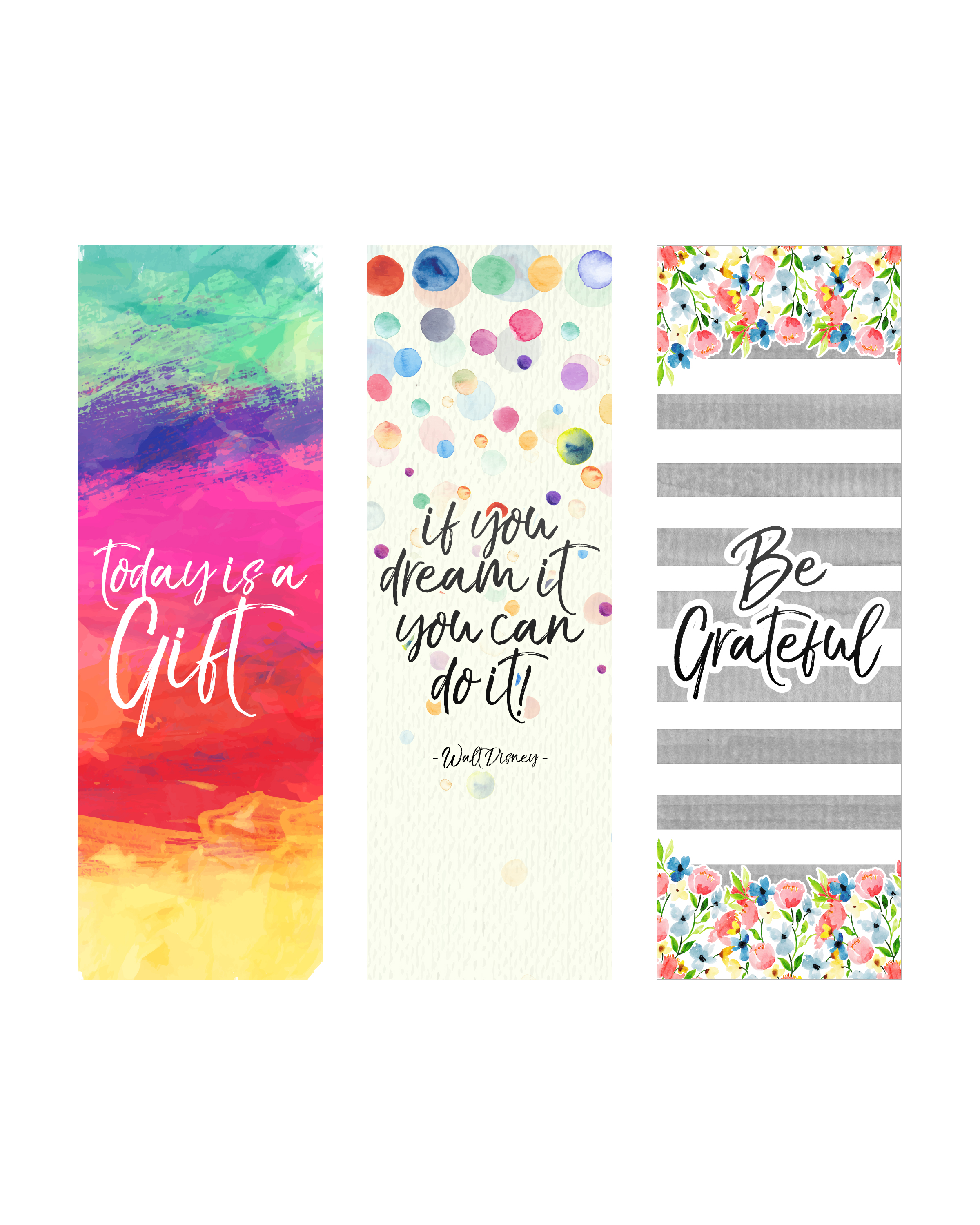 Free Printable Inspirational Quote Bookmarks