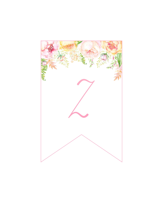 Complete Free Printable Floral Banner Set