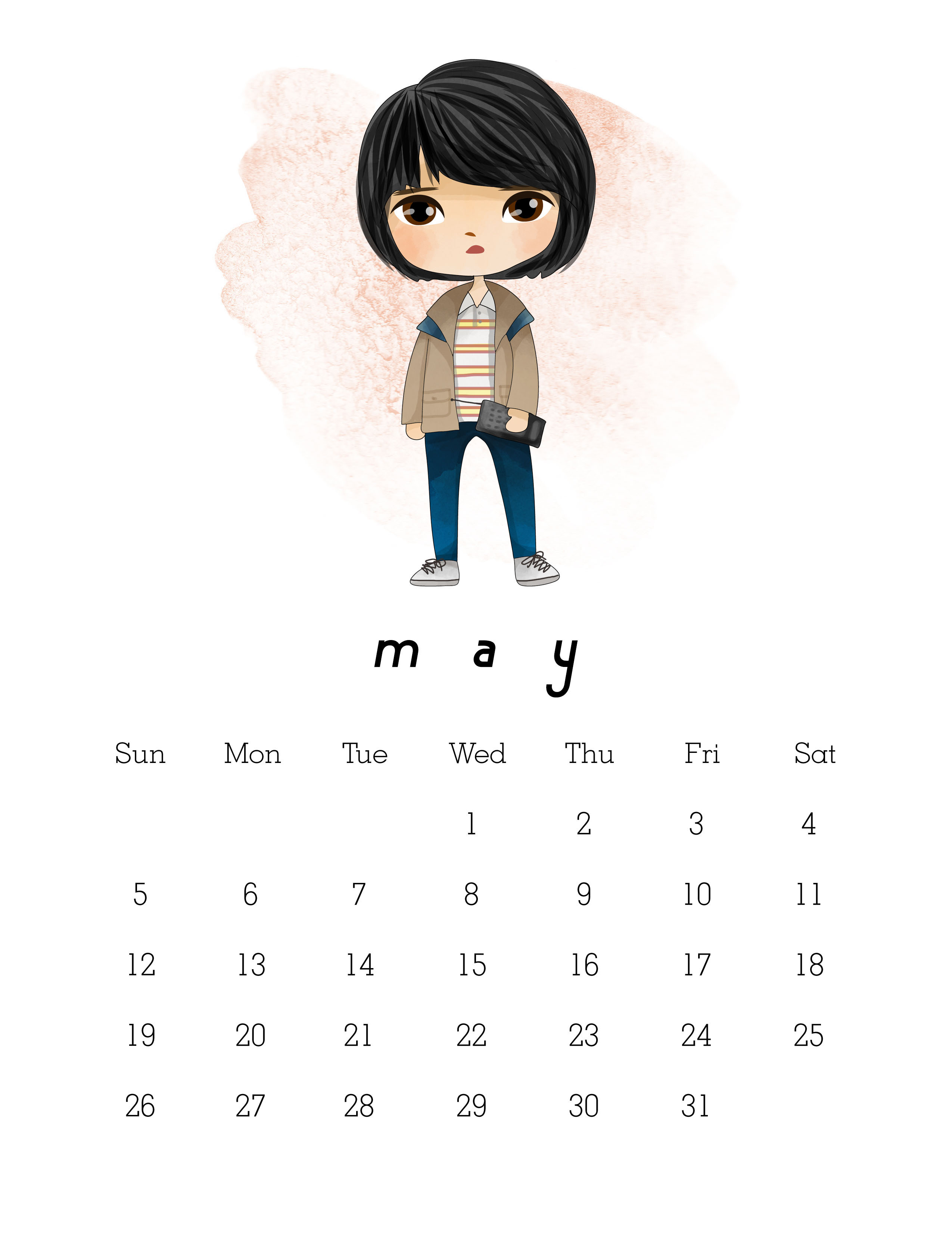 Free Printable Stranger Things Calendar
