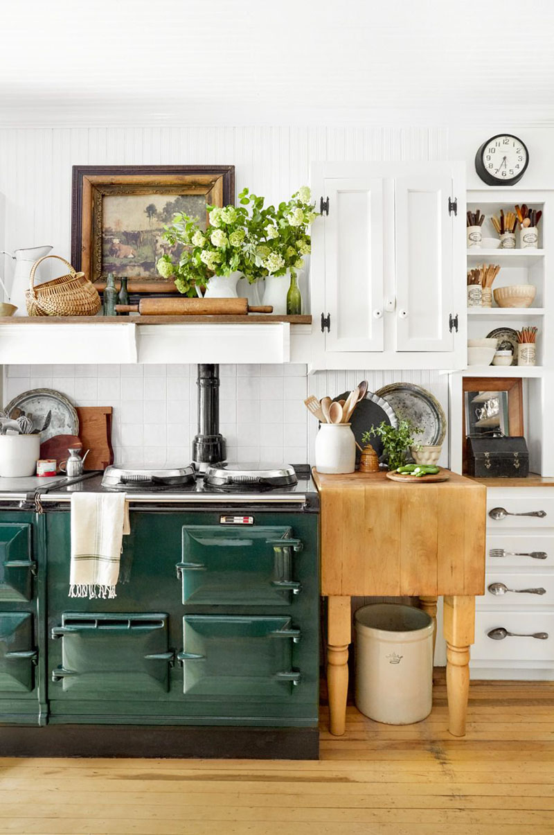 Fun Ideas To Accessorize Your Kitchen With Farmhouse Style ... on Farmhouse Kitchen Ideas  id=48372
