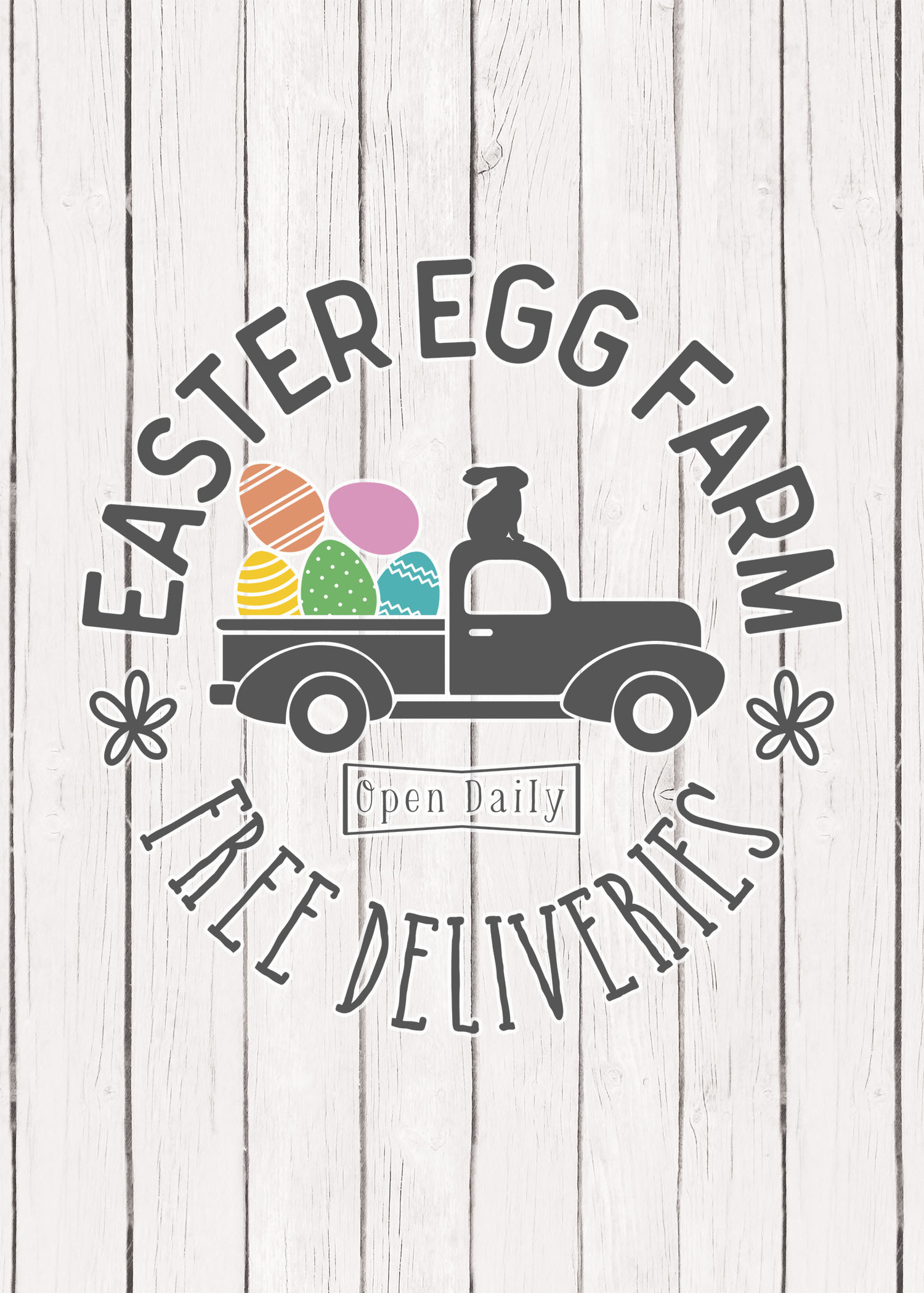Free Printable Farmhouse Easter Wall Art