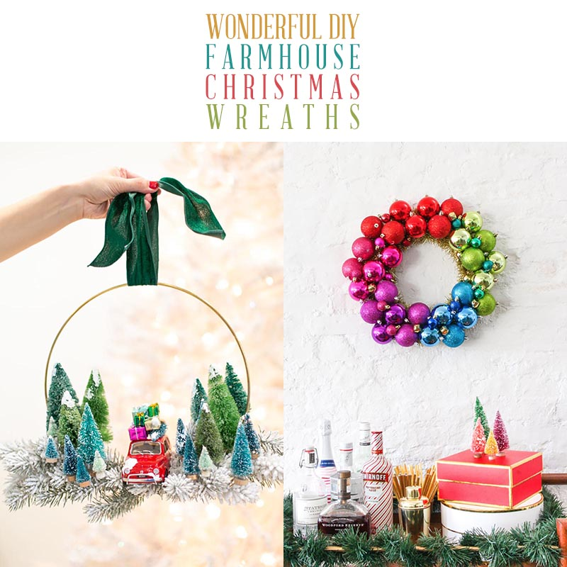 DIY Farmhouse Christmas Wreath T 5