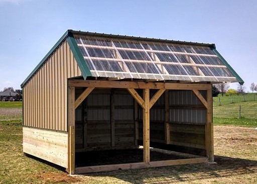 how to build a livestock shelter