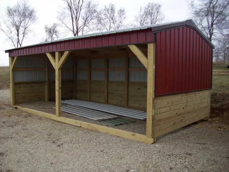 Cottage Style Shelters : Horse and livestock shelters the cottage works