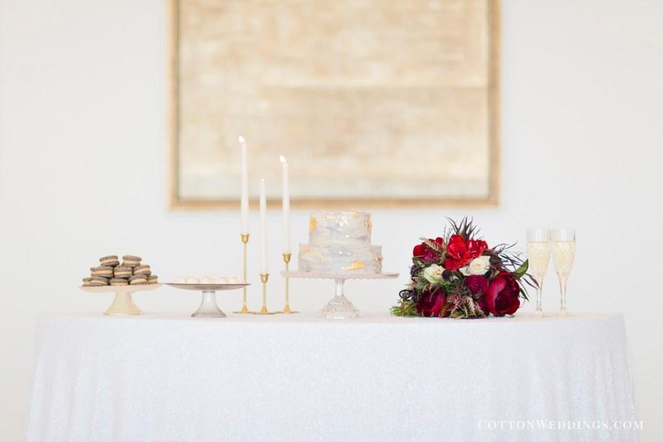 dessert table wedding inspiration bouquet