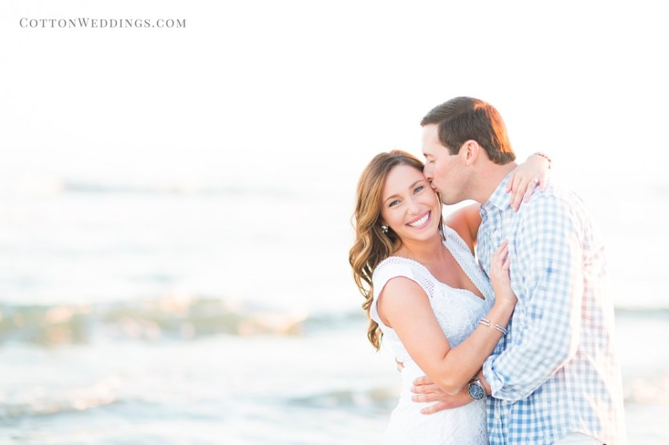 Galveston beach engagement
