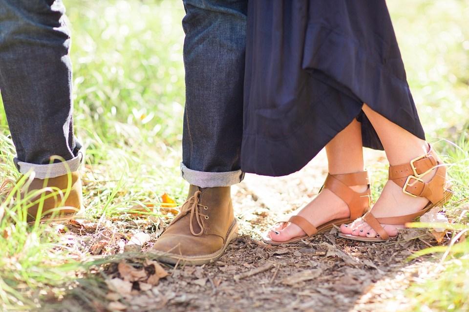 cute shoes engagement photos