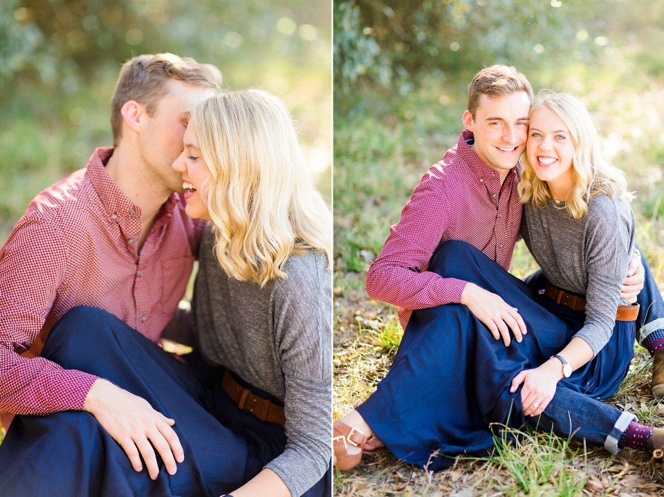 snuggly cute engagement photos