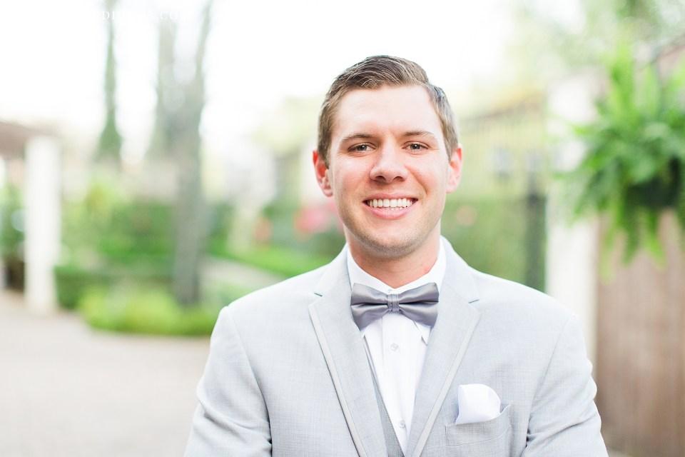 happy groom portrait