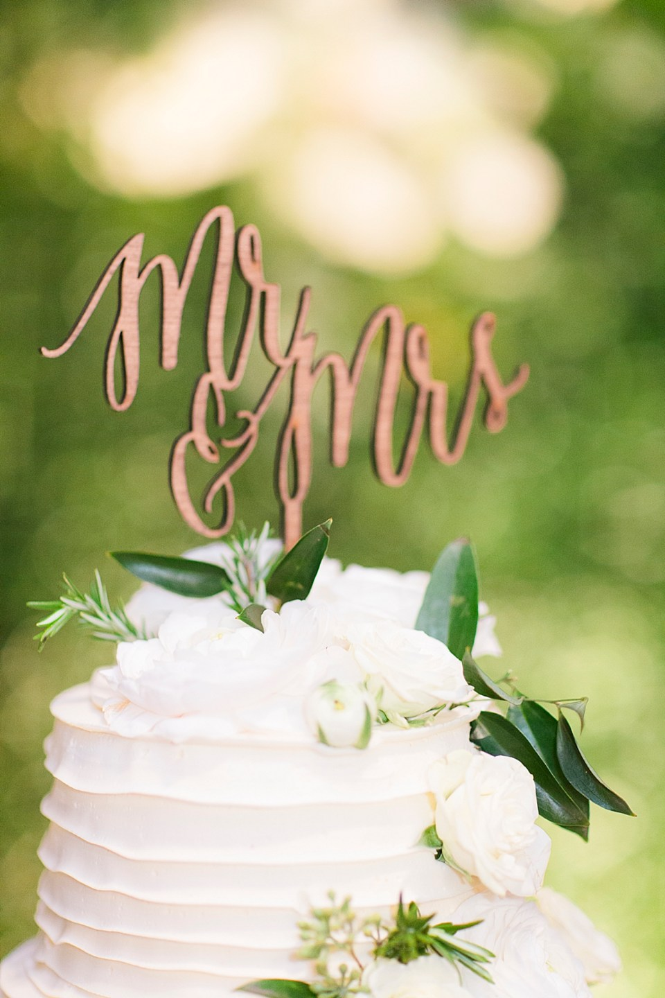 mr and mrs laser cut cake topper