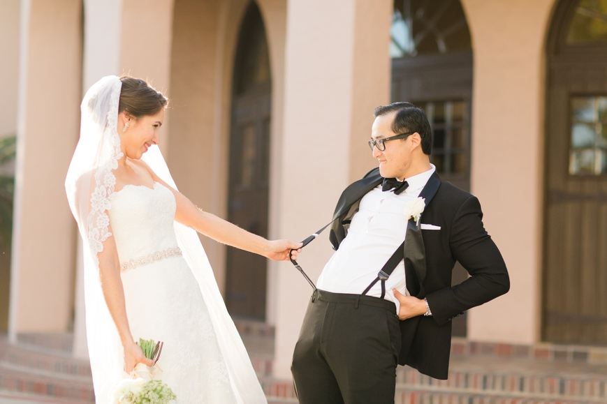 houston parador wedding bride and groom silly