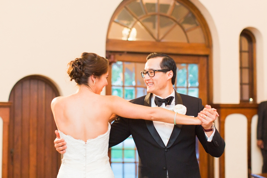 bride and groom's first dance parador houston