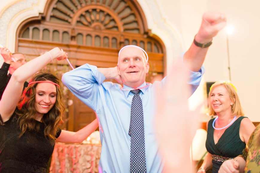 cute dancing photos of bride and groom with friends