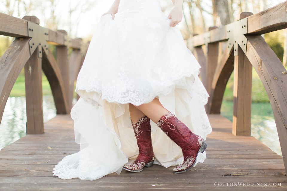 bride with cute red boots