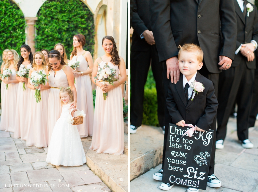 ring bearer it's too late to turn back sign