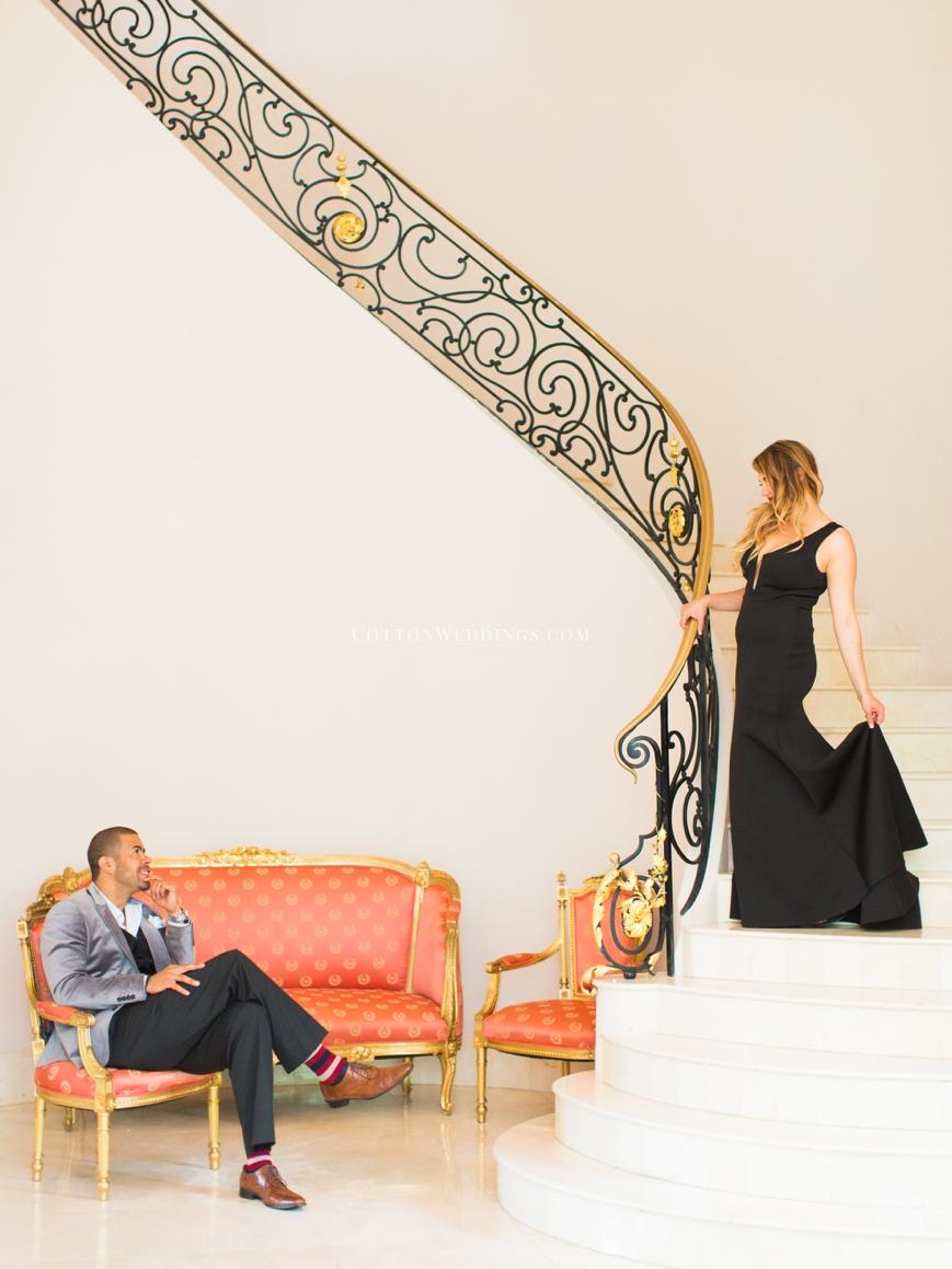 Glamorous Chateau Cocomar Engagement Photos_0030