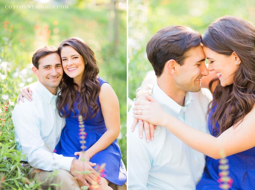 beautiful engaged couple portrait
