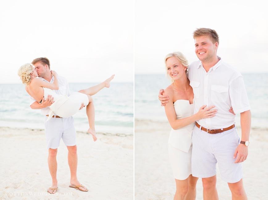 bride groom beach wedding rehearsal