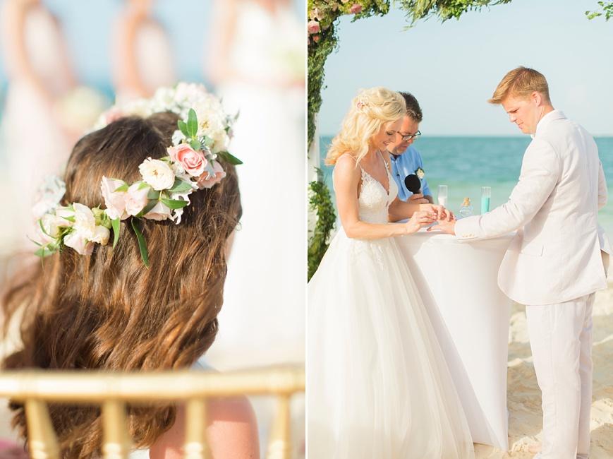 vows during destination beach wedding