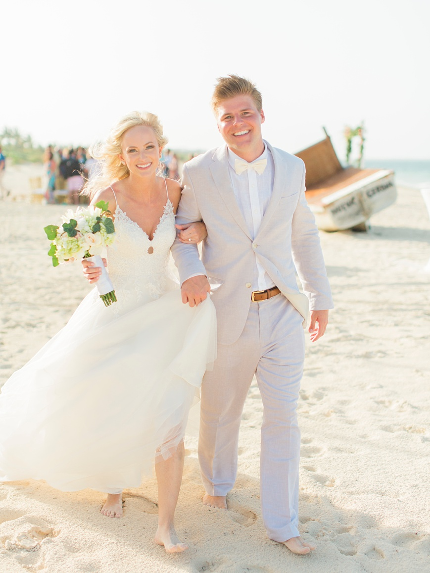 destination wedding at The Finest Playa Mujeres happy bride and groom
