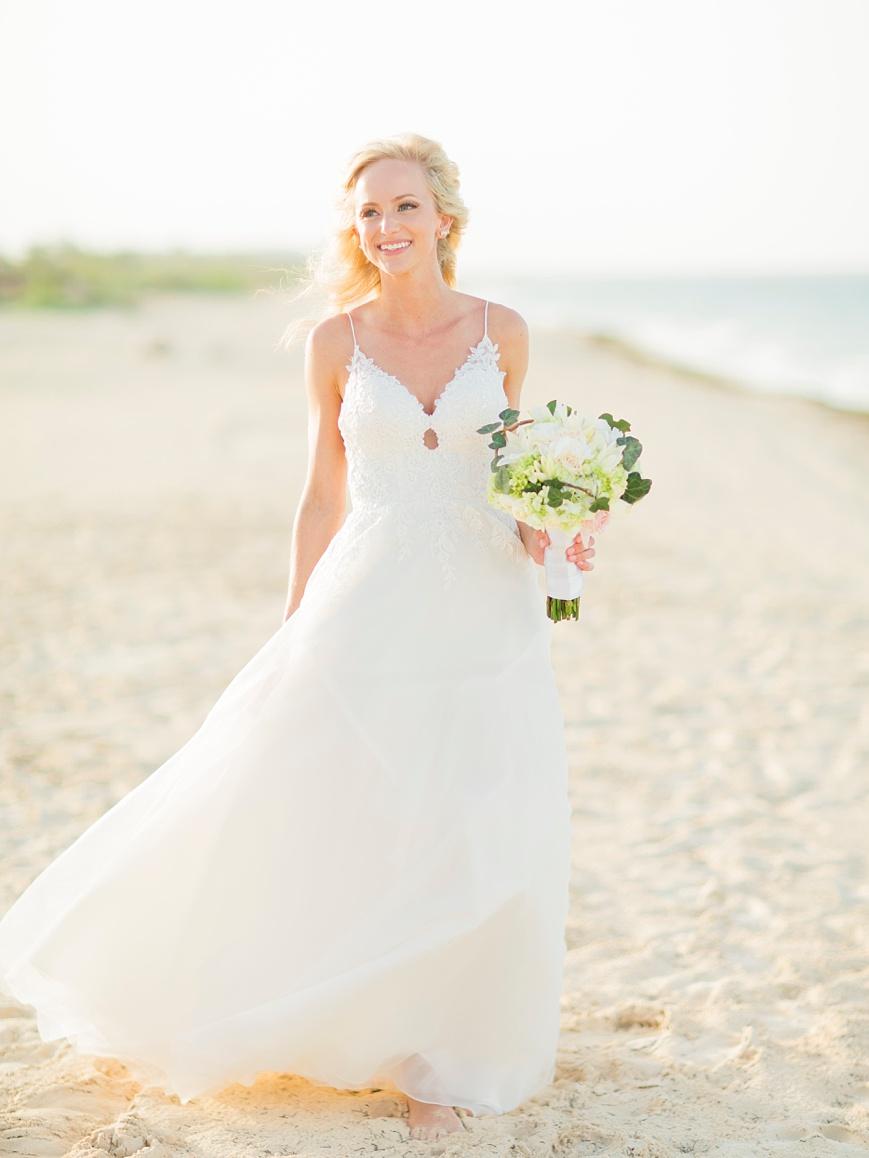 bridal portrait on the beach in cancun