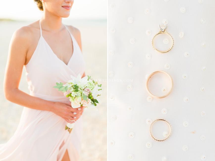 blush cream white details beach wedding
