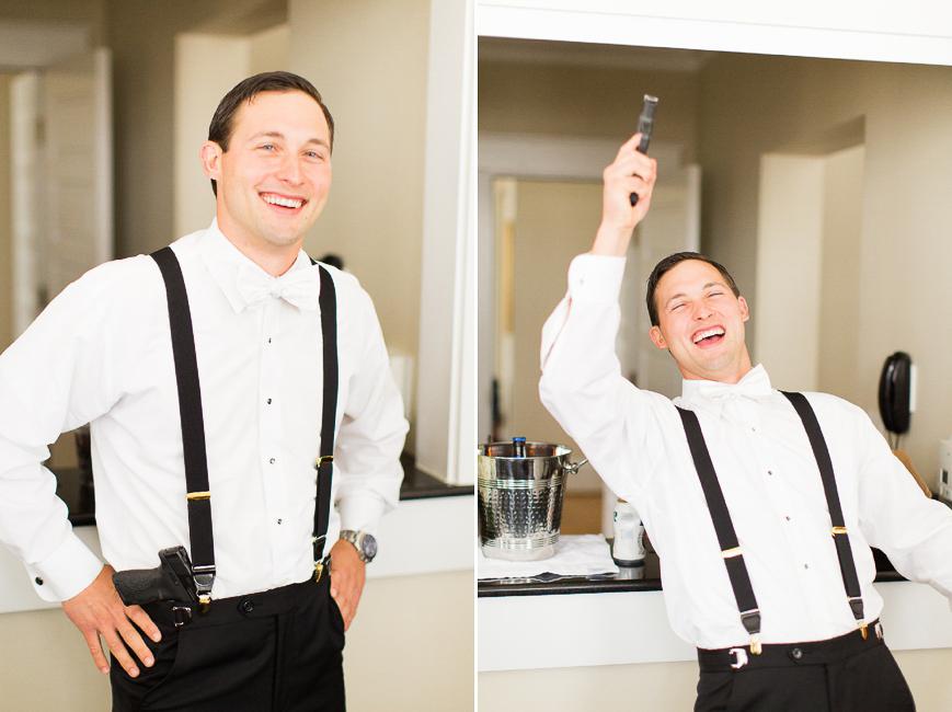 groom gift from groomsmen gun happy shooting
