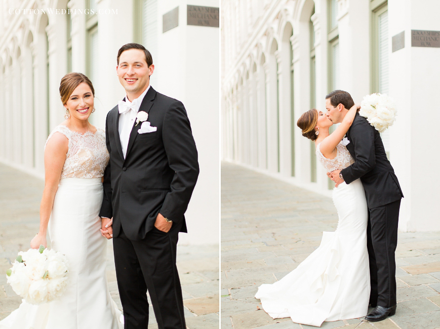 caroline herrera casa de novia wedding dress real bride and groom