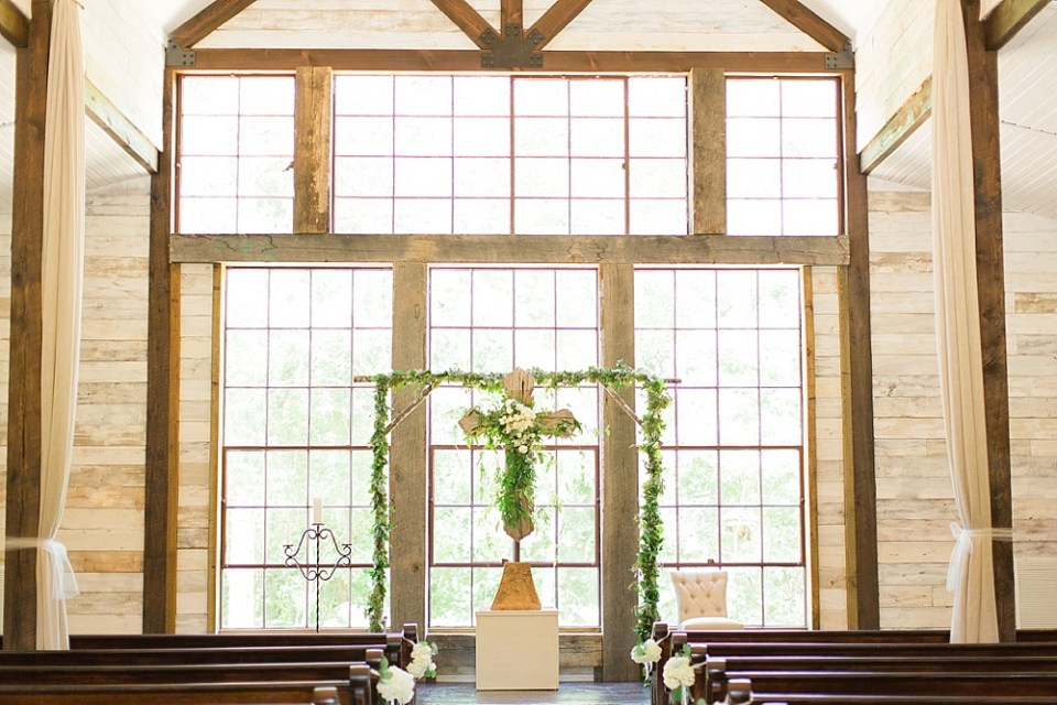 big sky barn wedding ceremony