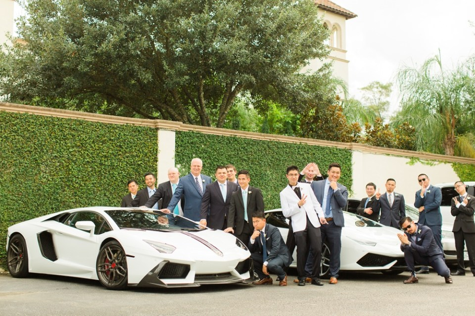 Lamborghini wedding
