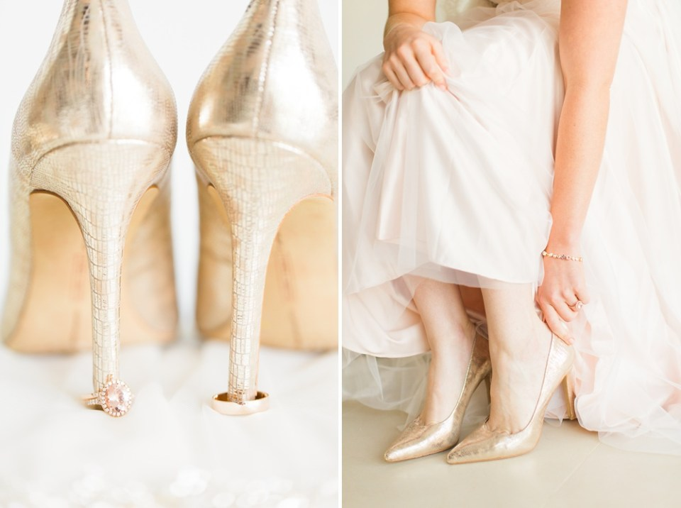 gold vince camuto wedding shoes