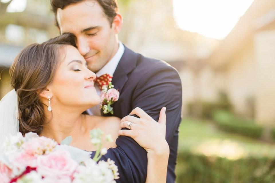 elegant southern wedding couple