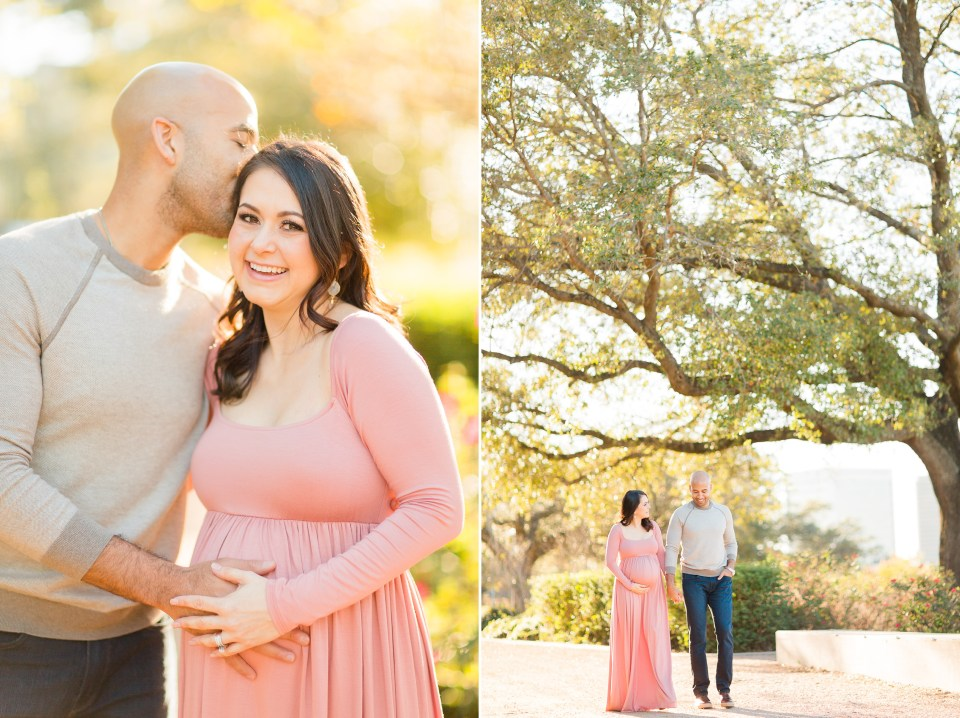 pink maternity session