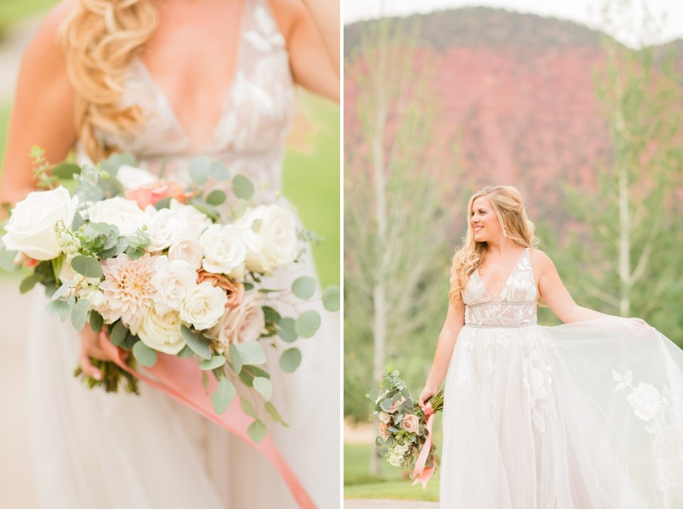 BHLDN wedding dress colorado wedding