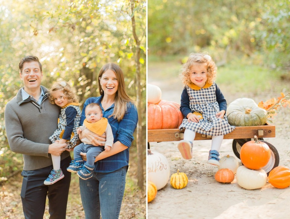 Family photos in the fall
