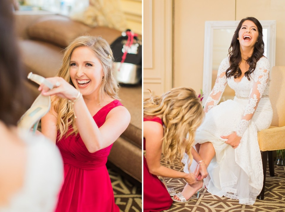 The Corinthian Wedding Bride Getting Ready by Cotton Collective